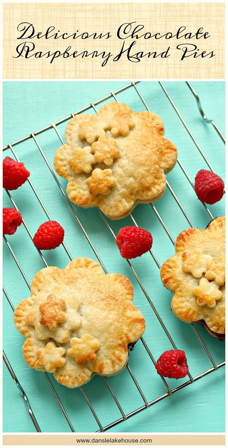 Chocolate Raspberry Hand Pie Recipe - SO easy, so delicious. Makes a tasty addition to a brown bag lunch and kids will have a blast making these.