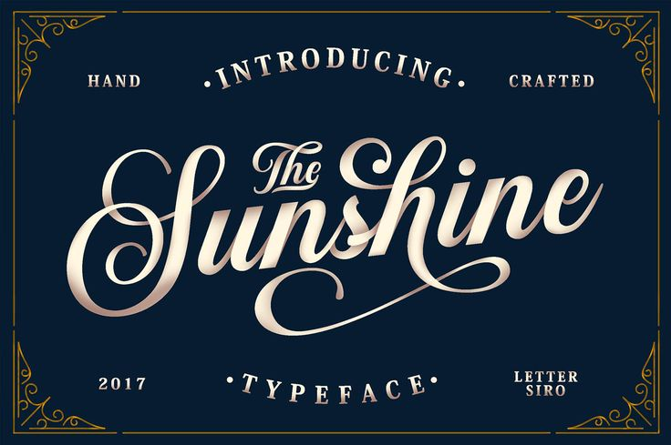 The Sunshine Script is a stunning decorative script font created by Lettersiro Co. It has a strong personality making it suitable for (personal) branding, vintage lettering projects and other projects that require an authentic look. The font is packed with many bonuses and extras and has multi-lingual support.