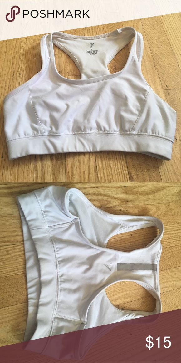 White/Silver Sports Bra Comfy, supportive sports bra, perfect for any type of physical activity! Old Navy Intimates & Sleepwear Bras
