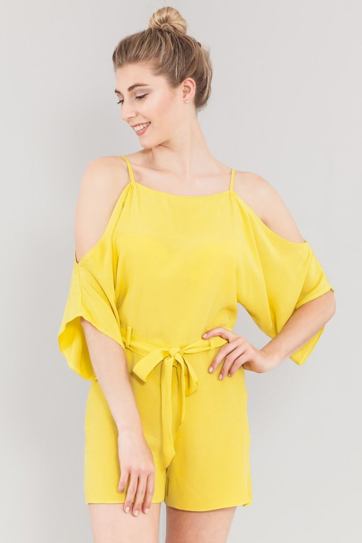 """Casual vibes 🌼💛 🔎 """"D10770YLW"""" Only £10.19 💥 💸 Get 15% off everything 📪 Free delivery on orders over £30 Shop at www.dressmewise.com 🛍 #styleinspo #stylegram #styleicon #stylish #style #yellow #playsuit #casual #vibes #fashion #fashionista #fashionaddict #fashionblogger #shoppingonline #womensfashion #womenswear"""
