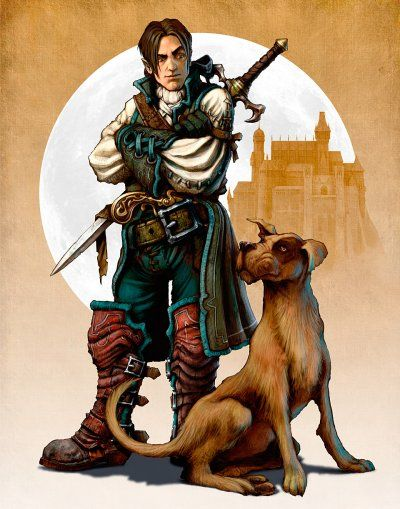 Fable Art - The Hero and his dog.