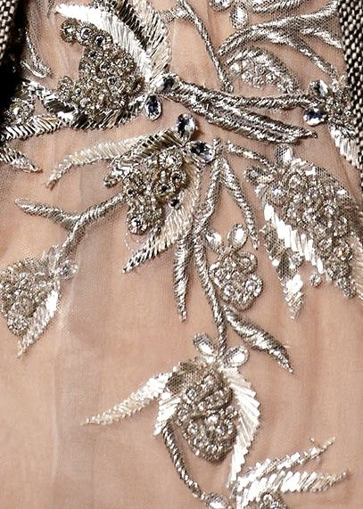 Metal thread embroidery/Valentino