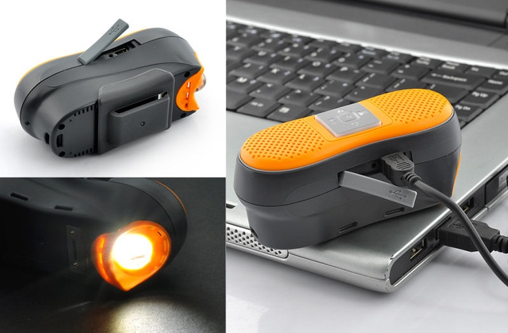 Bluetooth Hands Free Receiver and LED Head Light for Bicycle - Built in Speaker, Mic