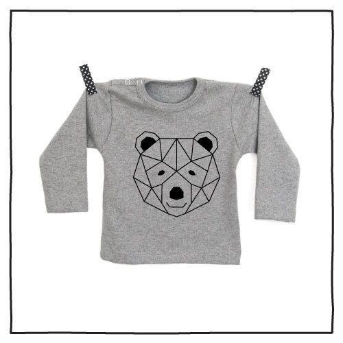 100% katoenen shirt met hippe opdruk Geometrische Beer vanPauline door vanpauline op Etsy https://www.etsy.com/nl/listing/222885483/100-katoenen-shirt-met-hippe-opdruk