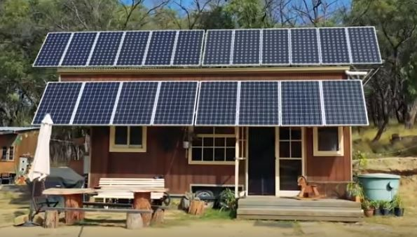10 000 Off The Grid Tiny House With Huge Solar System In Melbourne Victoria Tiny House Solar Solar System