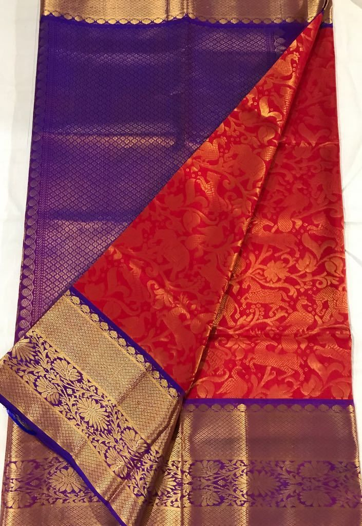 slokaonline.com-Buy Latest Collection of Kanchi Pattu Sarees Online in India, Buy Kanjeevaram Silk Sarees Online, Kanchi Silk Saree Shopping at slokaonline.com
