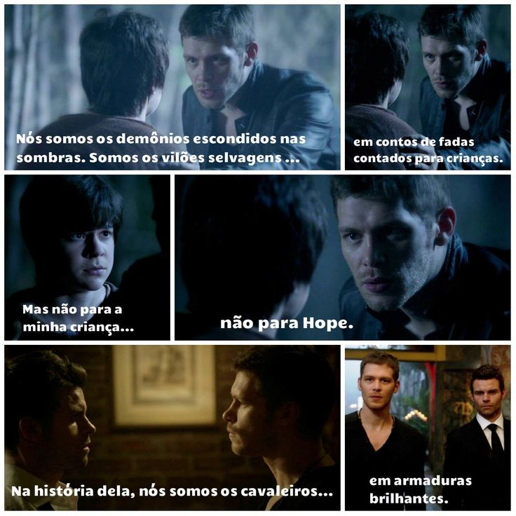 "The Originals – TV Série - Niklaus ""Klaus"" Mikaelson - Joseph Morgan - rei - King - lobo - Wolf - Elijah Mikaelson - Daniel Gillies - brothers - irmãos - citações - quotes - frases - tumblr - 2x07 - Chasing The Devil's Tail - Perseguindo A Cauda Do Diabo"