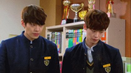 Kim Ji Won And Lee Jong Suk KIM WOO BIN and LEE JONG SUK