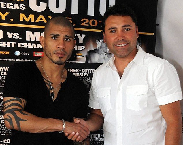 Miguel Cotto has signed a multi-fight deal with Golden Boy Promotions.  It's being reported that the deal is a 3 fight deal that will go into 2018.  Cotto's first fight under Golden Boy Promotions will be against Yoshihiro Kamegai (27-3-2, 24 KOs) on August 26th at the Stubhub Center.