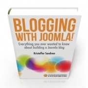 Yesterday, the first commercial Joomlablogger e-book was released. Blogging with Joomla!® is a 287 page e-book (delivered as a downloadable PDF, which covers a lot of information on how to blog with our favorite CMS.    Even if the book is written with a focus on blogging, the information can be used by anyone who wants to improve how they build Joomla sites.    I have worked on the book for around a year, so I'm pleased to report that the feedback has been positive so far.