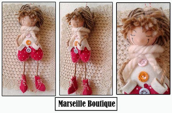 lovely felt princess felt doll doll ornaments by MarseilleBoutique