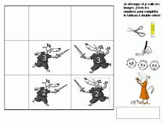Maternelle: Le loup, la chèvre et les 7 chevreaux, exploitation, tableau à double entrée
