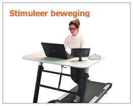 Fietsen of lopen achter je bureau - Met de bureaufiets, bureau loopband - Treadmill Desk -WorkTrainer - Blijf fit aan het werk