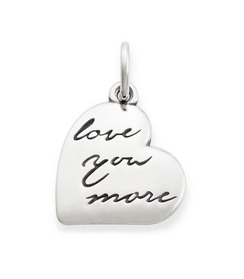 """Love You More"" Charm 