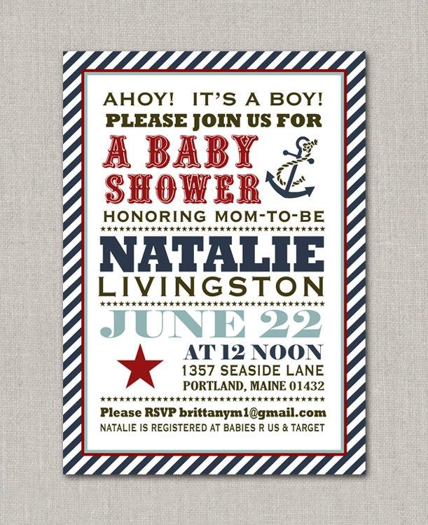 Anchors Away Nautical Baby Shower