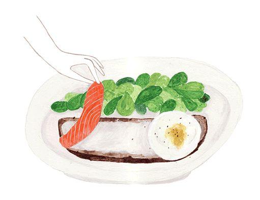 Ab ovo: Бутерброд с яйцом и слабосоленым лососем | Interview Россия
