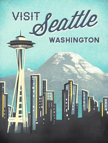 Seattle Space Needle Print