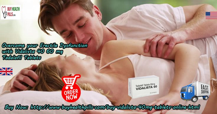 #Vidalista Tablets helps males who feel themselves to be less potent and facing the performance #anxiety issue because of #erection_failure condition while making #sensual_love with the partner. #Buy_Vidalista40mg 60 mg #Tadalafil Tablets Online in #USA #UK, from #BuyHealthPills online pharmacy in #Canada #Australia #California #London #Ireland. Visit at: http://www.buyhealthpills.com/buy-vidalista-40mg-tablets-online.html