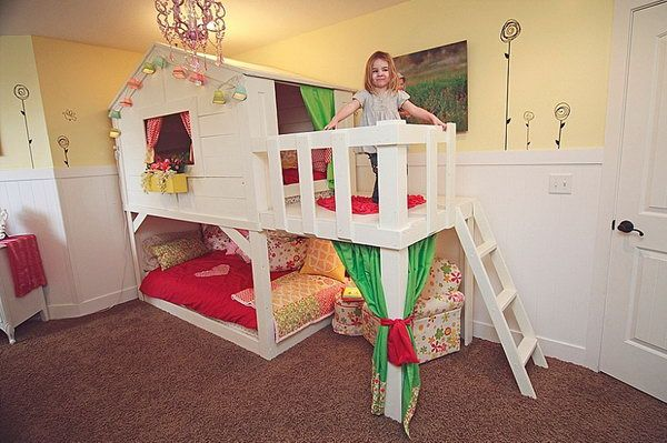 DIY Kura PlayHouse Bed with a Deck Area