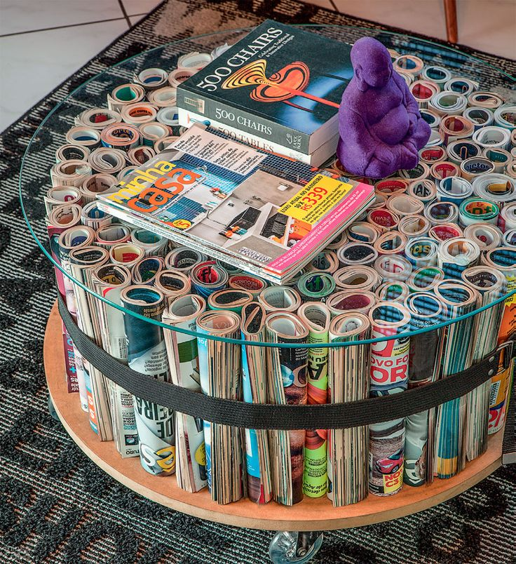 finally a use as furniture for all those old magazines collecting dust