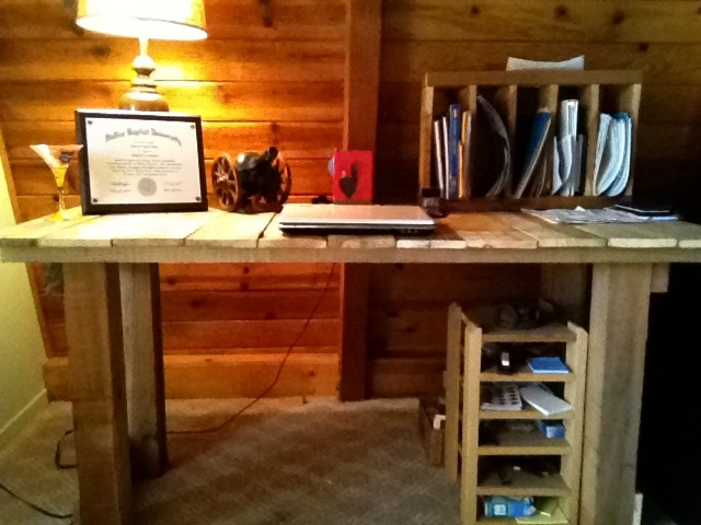 Pallet Wood Computer Desk!