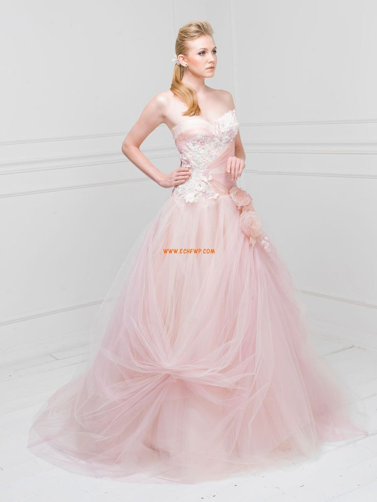 Hercegnő Court uszály Színes menyasszonyi ruhák Menyasszonyi ruhák 2014