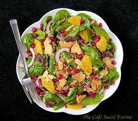 The Café Sucré Farine: Baby Spinach Salad w/ Dates, Almonds, Oranges ...