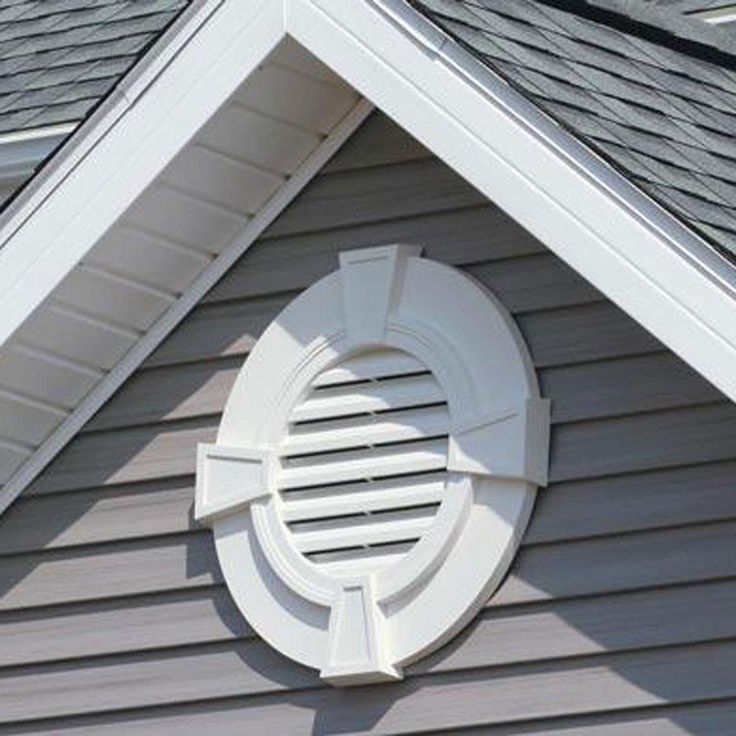 30 Inch W X 30 Inch H Round Gable Vent Louver With