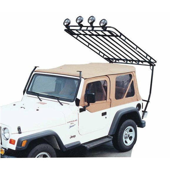 Garvin 34098 Wilderness Expedition Rack For 97 06 Jeep Wrangler Tj Jeep Wrangler Tj Jeep Jeep Yj
