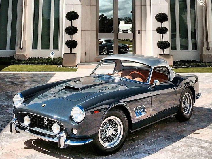"""198 Likes, 1 Comments – FERRARI ONLY ! (romina ferrari.lovers) on Instagram: """"1962 Ferrari GT SWB California Spider. 1 of only 18 Open headlight car…"""