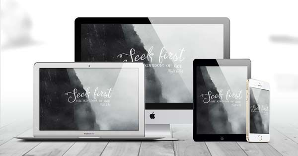 "Grab our ""Seek First the Kingdom"" wallpaper freebie → http://pktfuel.com/seek-first-free-wallpaper-download/"