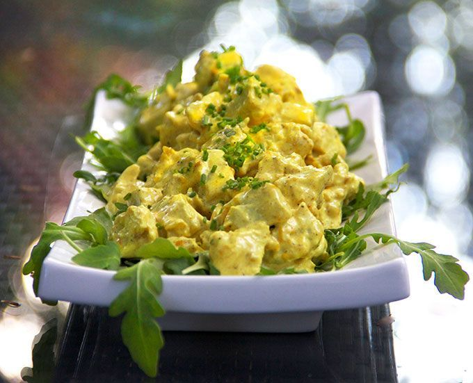Curried Chicken Salad: Everyone needs a great curried chicken salad recipe in their repertoire | Panning the Globe