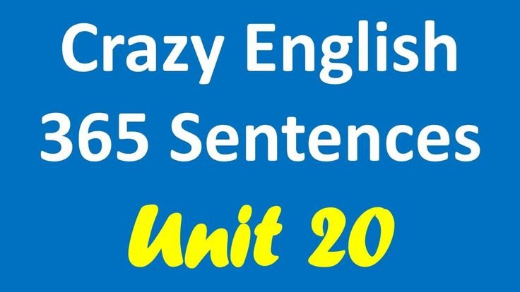 Crazy English 365 Sentences | Learn English By Listening - Unit 20