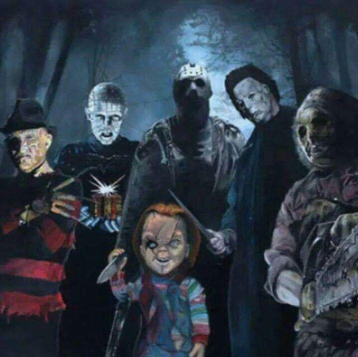 Classic horror movie art