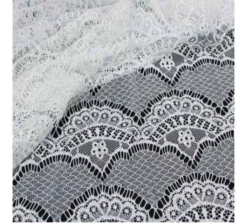 Krajka bílá 14180, stříbrný lurex š.150