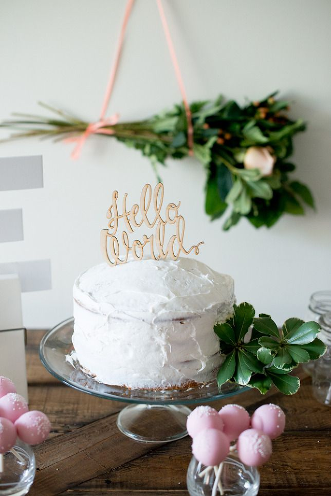 Rustic Peach Baby Shower for baby girl on www.threelittlecrowns.com