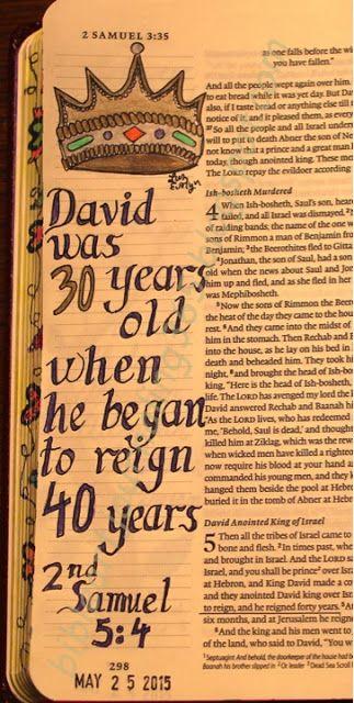 2 Samuel 5:4 Easy Bible Art Journaling Journey: 2 Samuel 5:4 (May 25th)