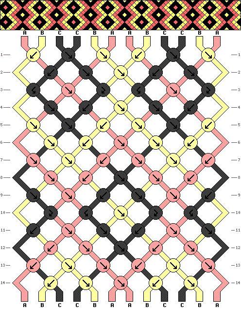 Bracelets Brésiliens - Niveau  3 - Modèle 5
