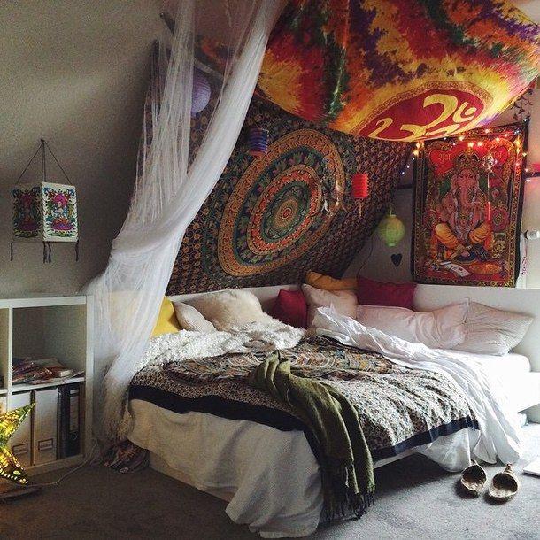 спальня, милый, хиппи, инди, люблю его, ом, довольно