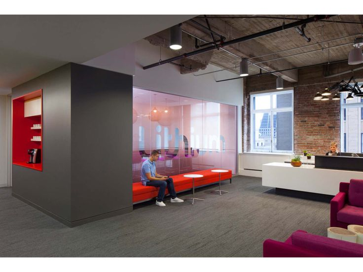 beautiful bright office. beautiful office reception space with pops of bright color lithium corporate headquarters huntsman architectural