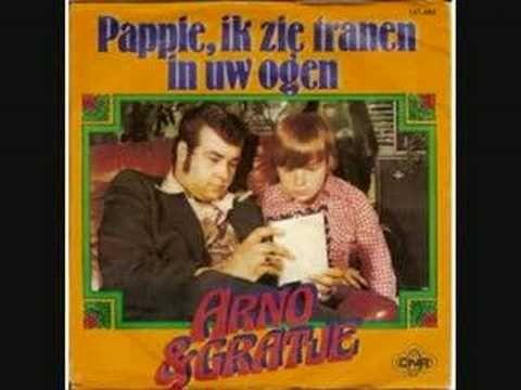 Arno en Gradje - Pappie Ik Zie Tranen In Uw Ogen (1978) - YouTube