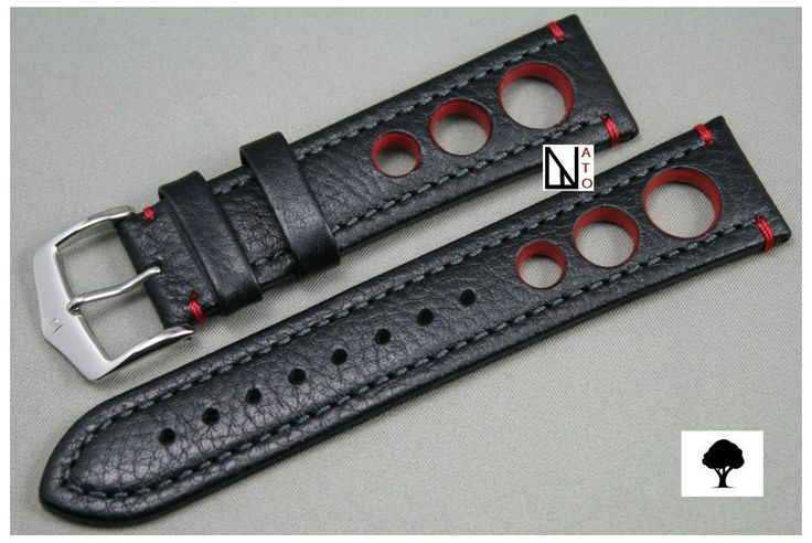 $35 Black Red Rally HIRSCH watch bracelet (not waterproof)