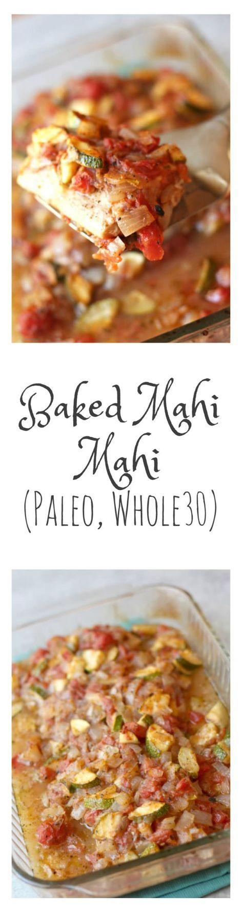 Baked Mahi Mahi with Vegetables (Paleo, Whole30)