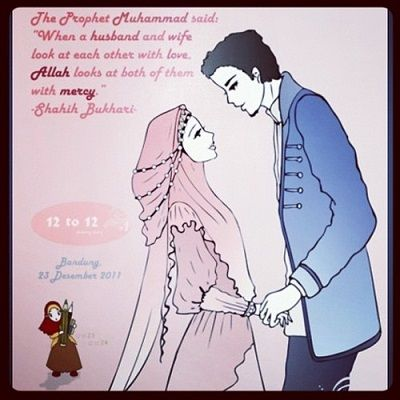 """When Prophethood was given to Prophet Mohammed (pbuh) on Mount Hira, then the Prophet repeated the words with a trembling heart. He returned to Khadijah (1st wife) and said: """"Wrap me up! Wrap me up!"""" She wrapped him in a garment until his fear was dispelled. He told Khadijah what had occurred and that he was becoming either a soothsayer or one smitten with madness."""