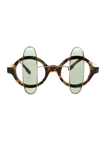 Tortoiseshell Circular Sunglasses