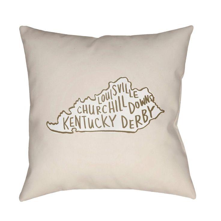 Surya Churchill Downs Kentucky Derby Outdoor Pillow - WDERBY003-1818