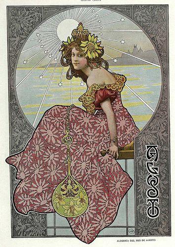 008-Alegoria del mes de Agosto- Gaspar Camps-Revista Álbum Salón-Enero de 1901 -Hemeroteca de la Biblioteca Nacional de España   Flickr - Photo Sharing!