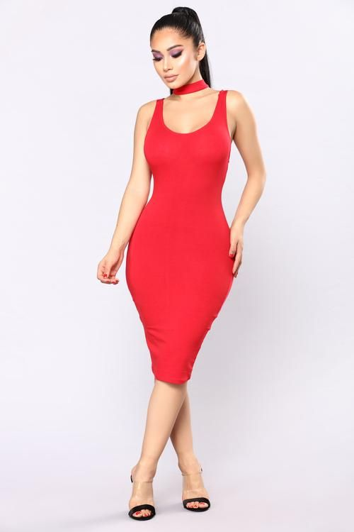 Stacy's Mom Choker Dress - Red