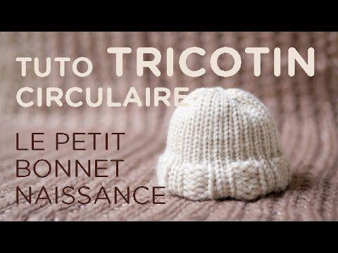 Tuto tricotin : le bonnet nouveau-né - YouTube