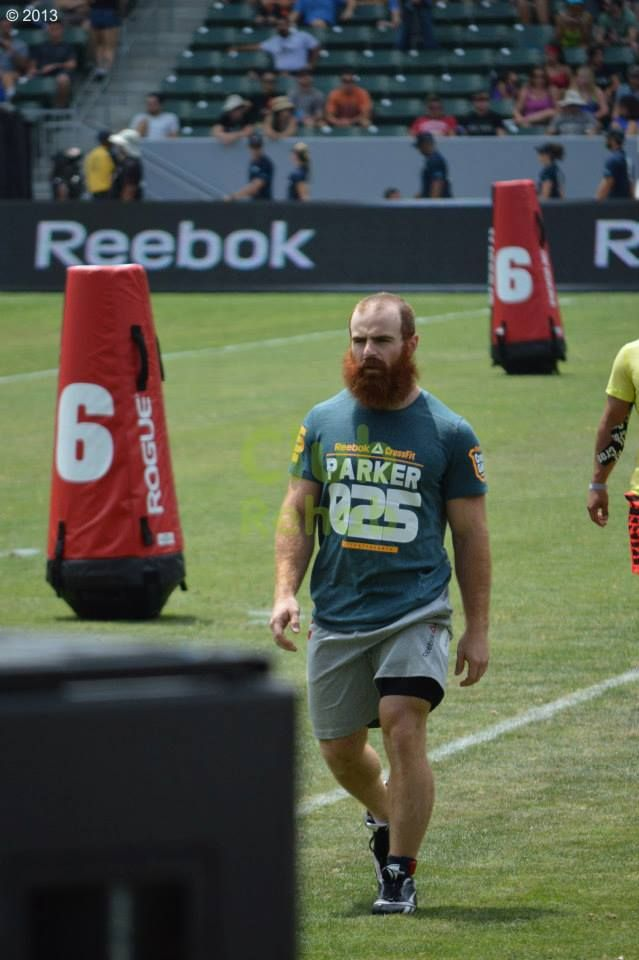 Lucas Parker from Crossfit Zone lining up for his heat of the zig zag sprint at the 2013 Reebok Crossfit Games